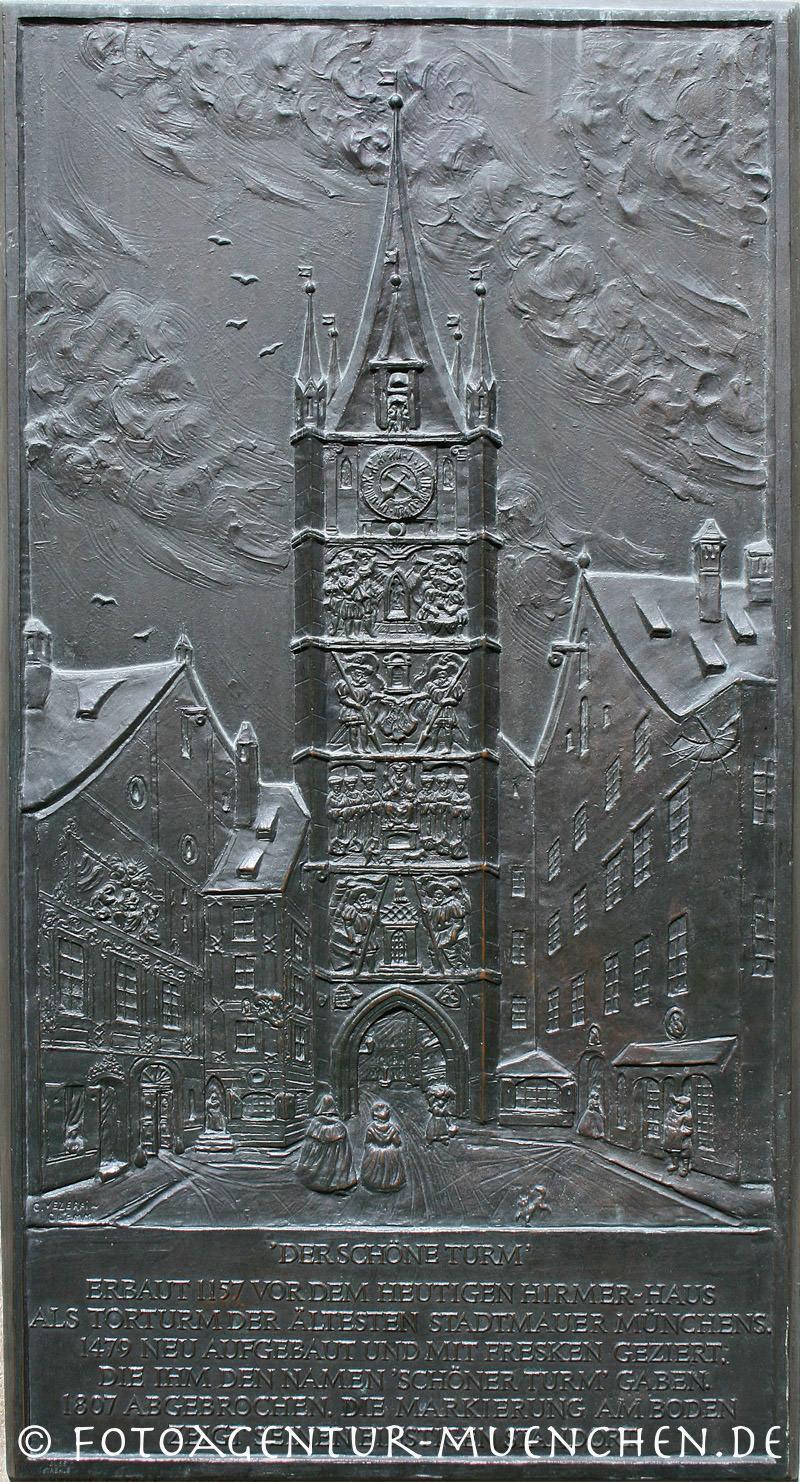 Gedenktafel - Schöner Turm