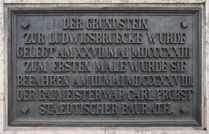 Ludwigsbrücke - Grundsteinlegung