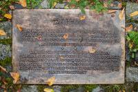 Tafel zur Bronzeskulptur Daphne