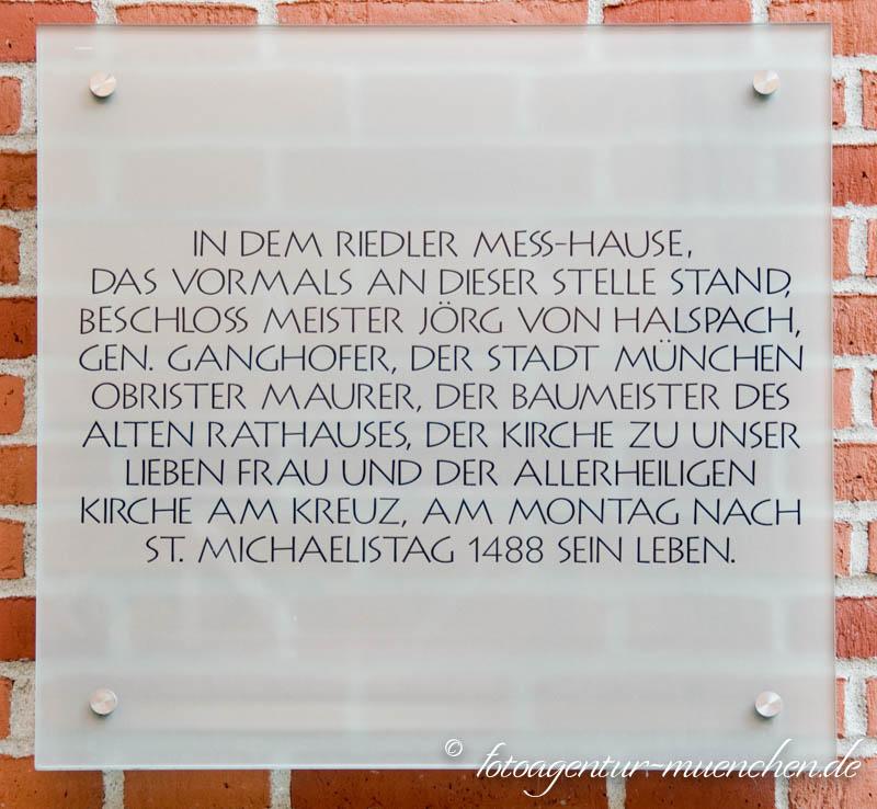 Gedenktafel - Jörg von Halsbach (Ganghofer)