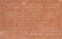- Gedenktafel für die letzten Opfer der Nazis