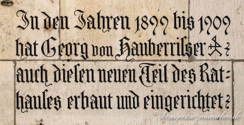 Neues Rathaus - Georg Hauberrisser