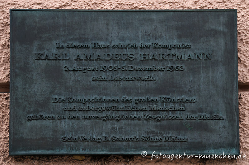 Gedenktafel für Karl Amadeus Hartmann
