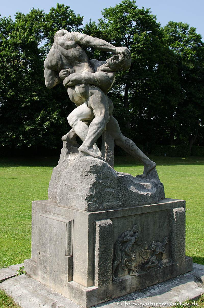 Ringergruppe, Herakles mit Antäos