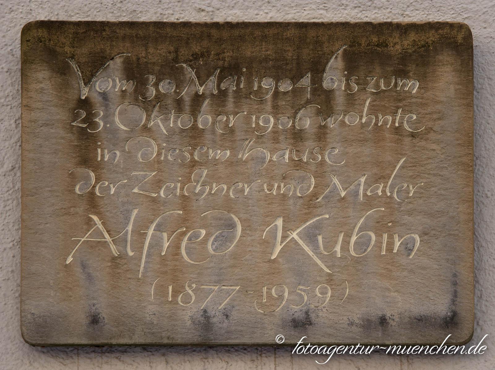 Gedenktafel - Alfred Kubin