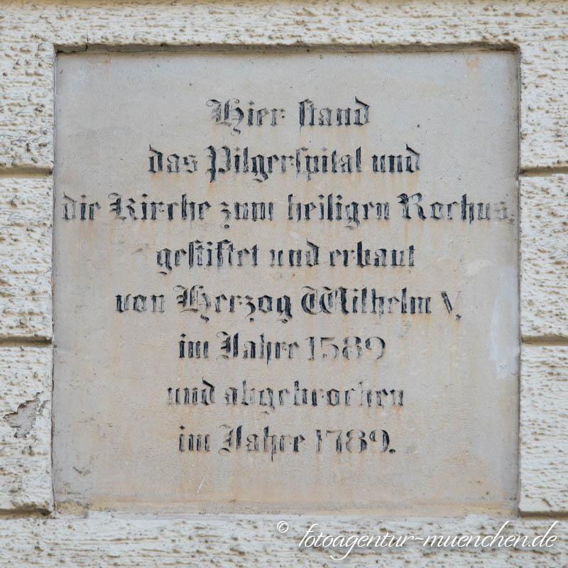 Gedenktafel - Rochusspital