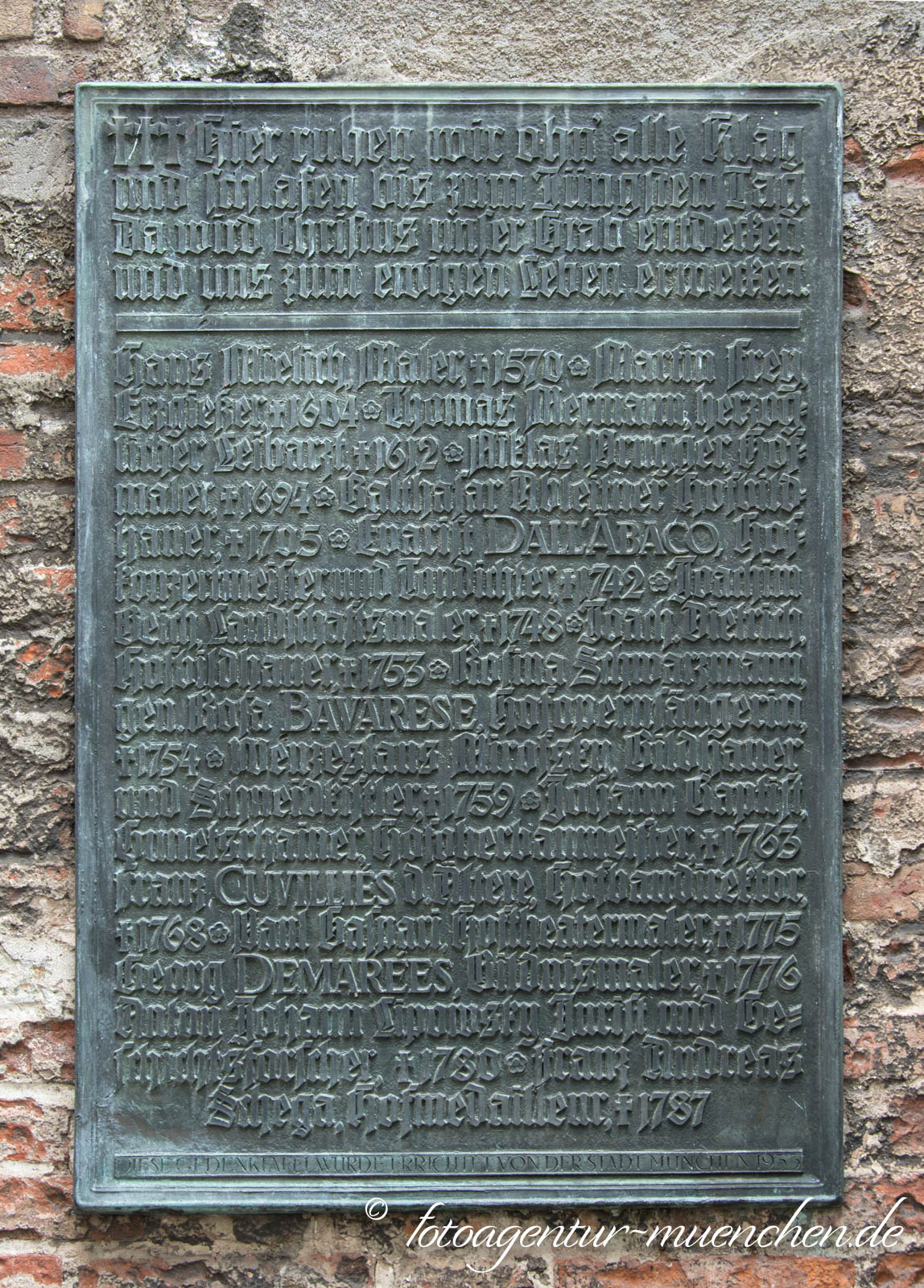 Gedenktafel - Salvatorkirche