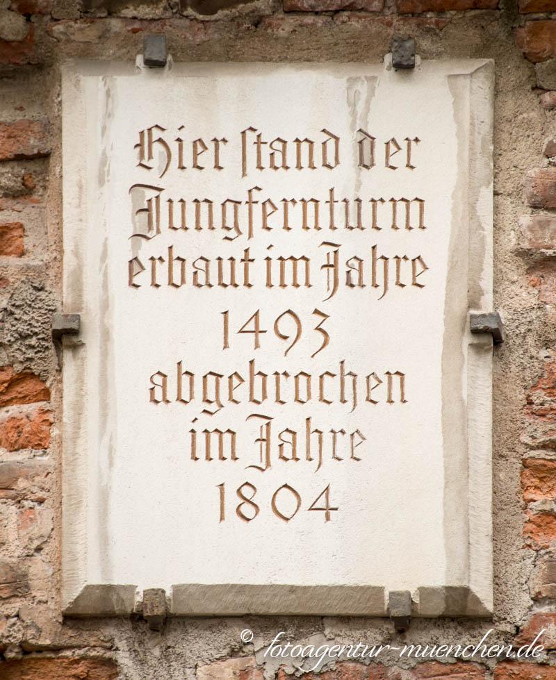 Gedenktafel - Jungfernturm