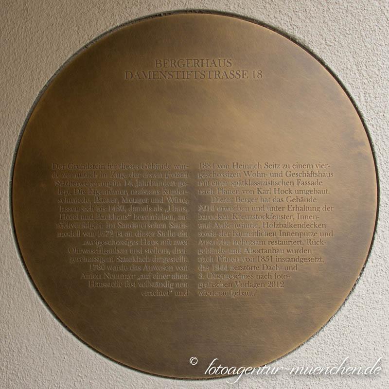 Gedenktafel Bergerhaus