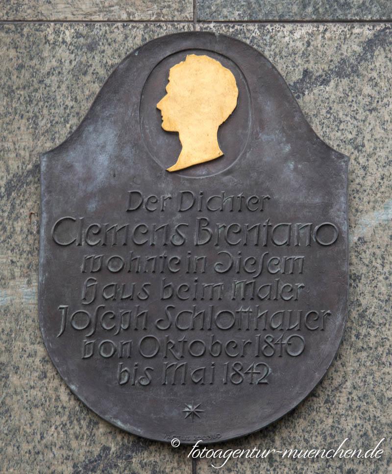 Gedenktafel - Clemens Brentano