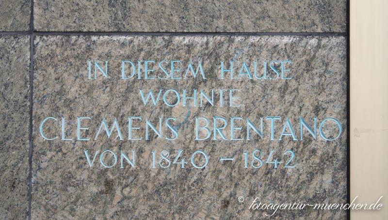 Inschrift - Clemens Brentano