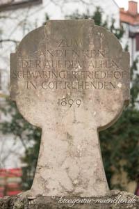 - Gedenkkreuz für den Alten Schwabinger Friedhof