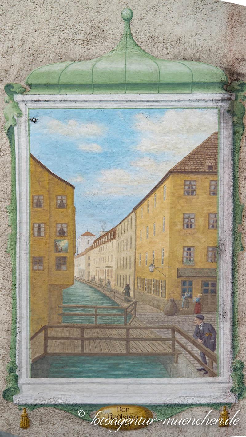 Der Radlsteg um 1880