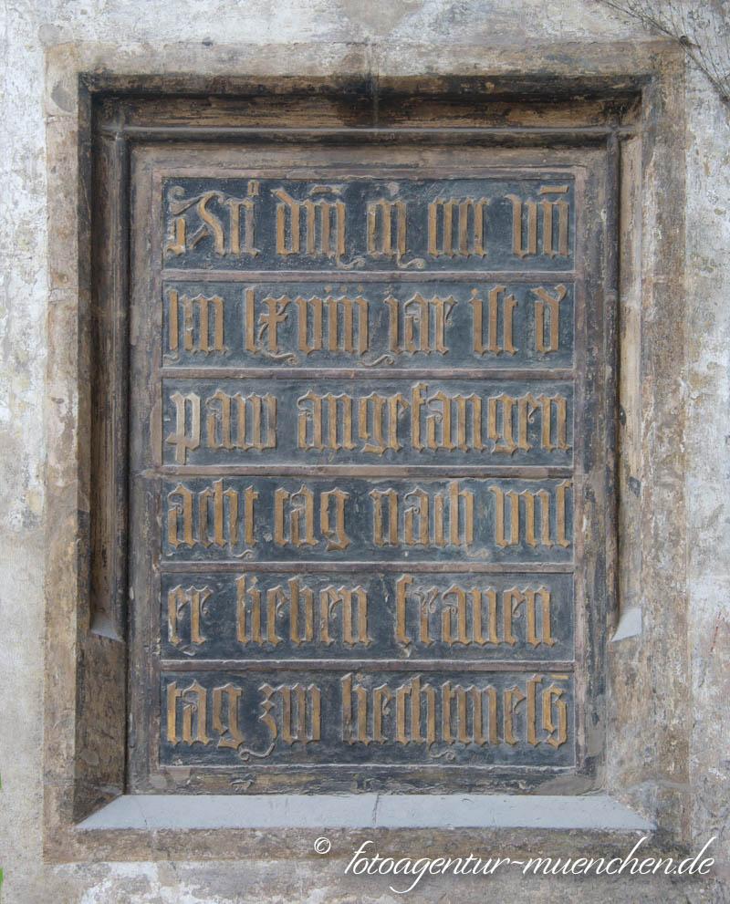 Gedenktafel - Grundsteinlegung der Frauenkirche