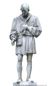 - Figur - Mann mit Münzen (Ausgaben) Schneider