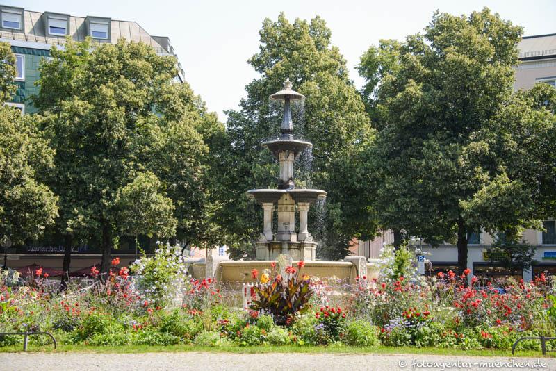 Glaspalast-Brunnen, Schöner Brunnen